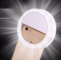 ماكياج مرآة LED موبايل ضوء الهاتف قطعة أثرية أدوات برو سيدة 36PCS LED الخرز التصوير ضوء الجمال على ضوء صور التعبئة