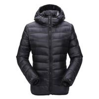 Zogaa Mujeres Ultra Light Chaqueta con capucha Abrigo de invierno Slim Fit Solid Cremallera sobre abrigo Otoño Invierno Mujer Parka Chaqueta Outwear