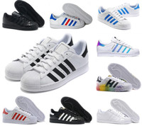 Adidas Scarpe casual Superstar bianchi tutti stan Donna Uomo Scarpe sportive Nero Rosa Blu Oro Superstars Sneakers Super Star smith