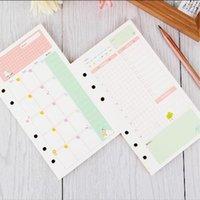 Día y semanas de papel A6 Carpeta de anillas de colores Mes Diario recargas cuaderno espiral Reemplazar color de las hojas intercambiables Core papelería regalo