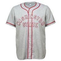 워싱턴 주립 대학 1948로드 저지 100 % 스티치 자수 로고 빈티지 야구 유니폼 사용자 정의 모든 이름 번호
