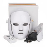 Светодиодная терапия омоложения кожи маска LED красоты маска для лица 7 цветов Свинец маска для лица для удаления морщин Отбеливание лечения акне