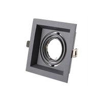 Черный или белый светильник Downlights алюминиевый потолочный прожектор MR16 GU10 монтажный кронштейн Встраиваемый светильник crestch