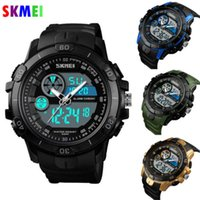 NoEnName_Nul Neue SKMEI Mens Waterproof Sport Army Alarm Date Analog Digital Quarzuhr