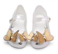 لطيف الاطفال أحذية البسيطة ميليسا بنات الأميرة الجديدة جيلي pvc الصنادل فراشة الفتيات الطفل أحذية الصيف 3 ألوان