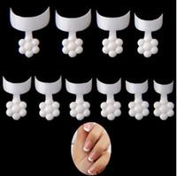 500 unids French Style Falso Clavo Corto Acrílico Tips de uñas con plum Flor Forma Mango Dedo Extensión Etiquetas de Extensión para Mujeres Chicas