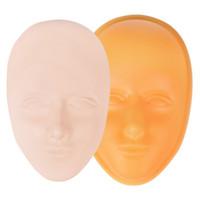 Silicone visage humain en trois dimensions pratiques de tatouage semi-permanent peau 5D sourcils plein visage eye-liner art en cuir de simulation à lèvres