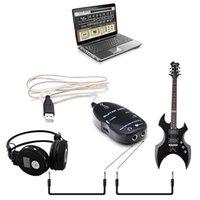 100set / lot USB cavo della chitarra elettrica di collegamento della chitarra del USB di collegamento audio cavo di interfaccia Lead Guitar to Computer