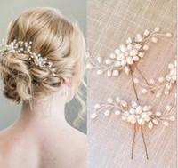 Корейская невеста шпилька свадебные украшения жемчуг Кристалл бисера шпилька U-образный клип свадебное платье аксессуары для укладки волос