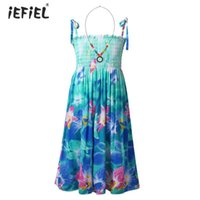 Kids Girls Princess Dress Bohemian Style Floral Printed Spag...