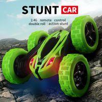 YJD RC Auto Spielzeug, doppelseitige Drift Twist Stunt Auto, drehen sich wie oben, 360 ° Auto Rad drehen, Körperrolle, Licht, Weihnachtskinder Geburtstagsgeschenk, D828