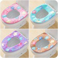 페데 스탈 팬 플란넬 쿠션 패드 겨울 따뜻한 연약한 변기 커버 사용 O 형 플러시 편안한 화장실 욕실 제품 DH0460