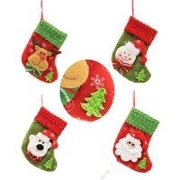 Bas de Noël Père Noël Ornement d'arbre de Noël de Noël Chaussette de sucrerie sac-cadeau Accueil Parti décoratif 12 styles LXL318L