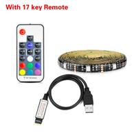 DHL 5050 RGB LED Şerit Su geçirmez 30LED / M USB LED Işık Esnek neon Bant 4M 5M Tv Arka Plan İçin Uzaktan eklemek Şeritler