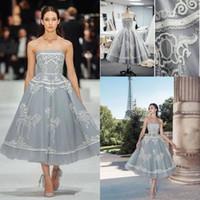Paolo Sebastian 2020 짧은 라인 댄스 파티 드레스 Strapless 레이스 차 길이 이브닝 가운 플러스 사이즈 칵테일 공식 파티 드레스 abendkleider
