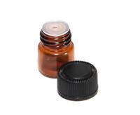 1 ml 2 ml 3 ml Botella de aceite esencial de vidrio ámbar Tubos de muestra de perfume Botella con tapón y tapas Botellas de vidrio dispensadoras DHL