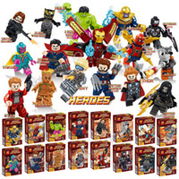Marvel Avengers Blocs de construction Boîte de couleur Iron Man Thanos Capitaine Thor Hulk Spider-Man Loki Ant-Man Star-Lord Figurines Cadeaux Jouets