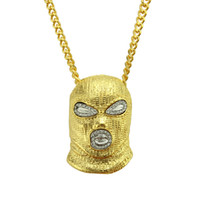 Hip Hop Charm Anti- terrorism Mask Head Pendant Necklace Mens...