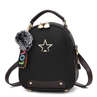 Double Use Bag Classic Design Student Backpack Pu Leather Ru...