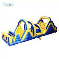 Grandes corridas emocionantes de obstáculos infláveis Curso Bouncy Castelo Combo Slide PVC Tarpaulin Bounce House para crianças e adultos