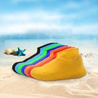 실리콘 미끄럼 방지 방수 레인 코트 레인 슈즈 부츠 커버 물 비치 비가 새 신발 Overshoes가 미끄럼 방지를 재생