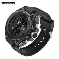 Relógio Man 3ATM Choque Top Marca de Luxo Homens Relógios Militar G estilo dos homens Sports Resista relógio de pulso preto relogio masculino 7