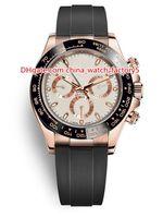 10 Style Topselling Cosmographe de haute qualité 40mm 116518 116515 116500 Pas de chronographe Bétonnage en caoutchouc de lunettes de montres pour hommes automatiques