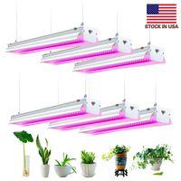 LED wachsen Licht, 4ft 64W Full Spectrum, Integrierte Hängearmatur, Stecker in, Pflanzen Sämlinge wachsen Gemüse Blumen Innenaufnahme Year Round