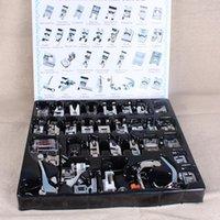 Nozioni di cucito Strumenti 1-52 pz Accessori per la macchina domestica Acciai intrecciati Stitch Darning Presser Foot Piedi Kit scatola per fratello cantante Janom