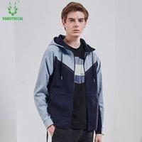 러닝 재킷 Vansydica 재킷 남성 패션 Drawstring Sportwear 체육관 의류 야외 유니폼 운동 긴 소매
