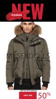 Top Mens winter coats Canada Parkas Outerwear Hooded Manteau Slim big real fur Down Jacket Coat