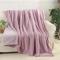 Hohe Qualität Winter Lamm Kaschmir Decke A-B Einfarbig Plus Dicke Doppelschicht Decke Einzel Doppel Wärmer Decke Großhandel