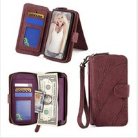 14 card slots zipper wallet leather case for samsung S20 S20...