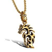 Vlam Dragon Hanger Kettingen S925 Sterling Zilver / 18K Gold Diamond Luxe Persoonlijkheid Designer Sieraden voor Mannen Punk Link Ketting Ketting