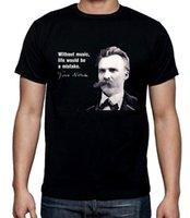 Nuevos llegados. Friedrich Nietzsche Music Quote Camiseta para hombre ... 543fe976e3a