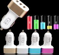 2.1A / 2A / 1A 아이폰 삼성 화웨이 전화 태블릿 GPS 유니버설 무료 배송 3 USB 포트 자동차 충전기 어댑터 LED