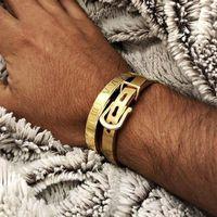 Мужские браслеты 2019 панк 2 шт. / Установлен Геометрический браслет из нержавеющей стали браслет для мужчин ювелирных изделий