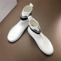 Venta-último Caliente para hombre del calcetín de las zapatillas de deporte con malla superior, Triple S Botas de goma suave de velocidad formadores de fondos rojos de moda de los hombres la zapatilla de deporte