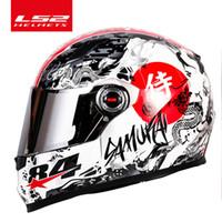 CLOP CLOWN LS2 CLOWN FACE Casque de moto LS2 FF358 Motocross Racing Man Femme Casco Moto Casque Samurai ECE approuvé