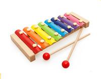 어린이 나무 옥타브 손 노크 피아노 조기 교육 아기 퍼즐 뮤지컬 장난감 1-2-3 년 나무 노크 피아노 DHL