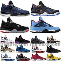 2020 Nuevos zapatos de baloncesto 4 4S Jumpman Bred Wings Encore Fire Red Singles Stealth Oreo White Cement Men Mens Designer Sneakers US 7-13