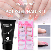 lámpara para uñas Poly Gel Nail Kit, 105 PCS Professional Poly gel Starter Kit Nail Solution para set kit manicura # 0.7