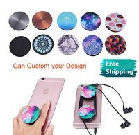 Supporto per telefono cellulare Air bag UV Stampa UV Logo Design Design a finger a 360 gradi Titolare per cellulare universale flessibile per iPhone Samsung