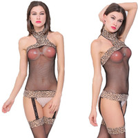 Free Shipping New sexy lingerie cosplay Leopard Skinny Sexy ...