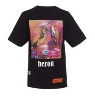 New Heron Preston Magliette Multicolor Red-Crowned Crane Heron Preston T Shirt Hip Hop Donna Uomo Pink Heron Preston Top Tees