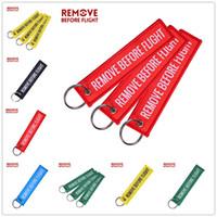 Stickerei Entfernen Sie vor Flug Letters Schlüsselanhänger Air Anhänger Label-Metall-Kreis-Schlüsselring für Hut Gepäck Rucksack Anhänger Souvenir E22101