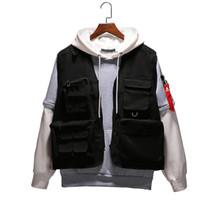 2020 Новый бренд Жилеты Tactical Black Охота Путешествия Жилеты мужские Карманы Осень безрукавки City Fashion Vest