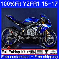 Injection Bodys For YAMAHA YZF-1000 YZFR1 2015 2016 2017 Blue black stock 243HM.34 YZF R 1 1000 YZF-R1 YZF1000 YZF R1 15 16 17 Fairing kit