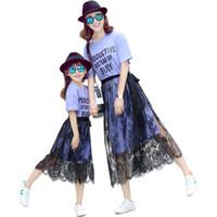 Estate madre figlia vestiti vestiti casual famiglia abbinata vestiti mamma e figlia