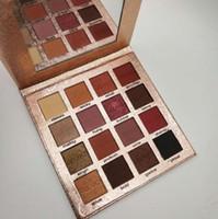 À prova d 'água de longa duração GELANZI Ouro sombra de Olho maquiagem 16 cores fosco shimmer paleta de pó pressionado fácil de usar DHL Livre